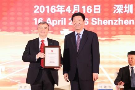 Andrea Bedosti premiato in Cina