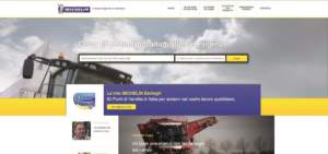 La home page del nuovo sito di Michelin Agricoltura.