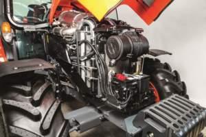 La nuova serie M5001 è equipaggiata con motore Kubota V3800 a quattro cilindri.